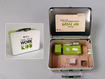 "Junior Achievement of Chicago ""Take Your Work to Kids Day"" Lunch Box Thumb Image"