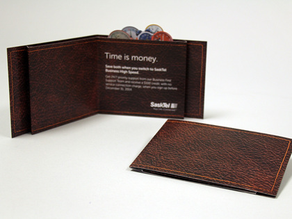 SaskTel Pop Up Wallet Mailer Thumb Image