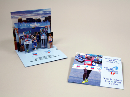 Chevron Houston Marathon 4 Page Pop Up Mailer Thumb Image
