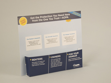 AOPA Insurance Take One Display Thumb Image