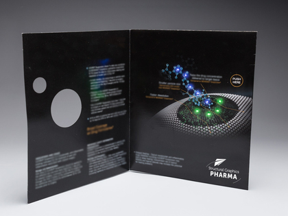 LED Lights Folder with Die-Cut Thumb Image