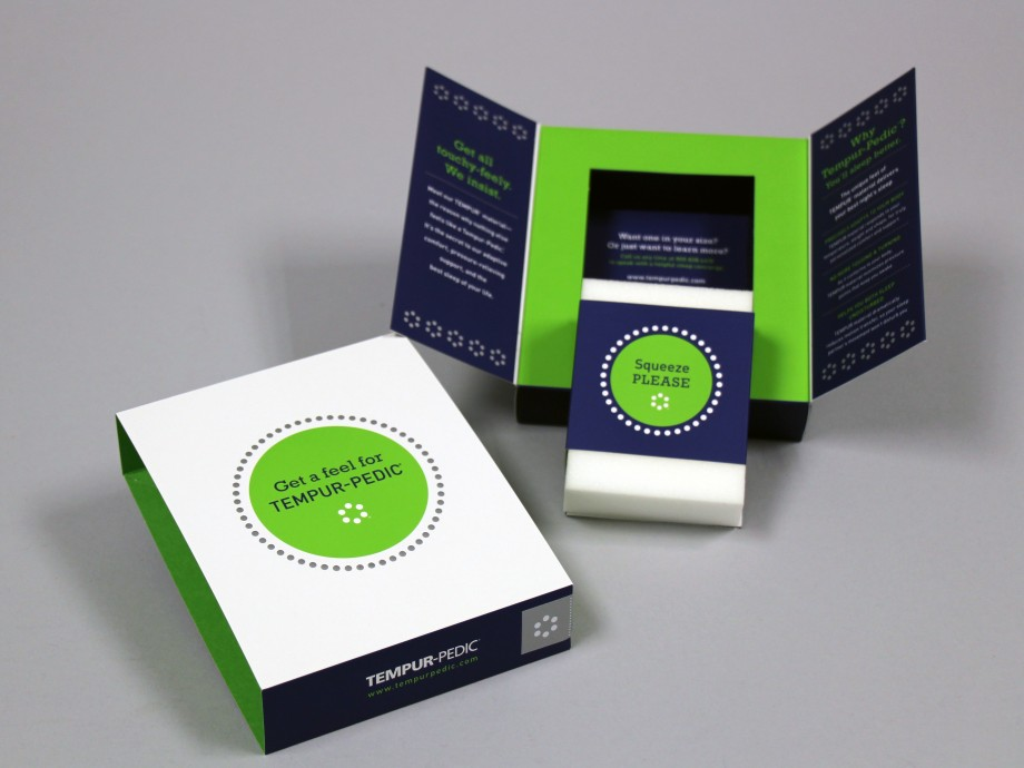 Tempur-Pedic Sample Packaging | Structural Graphics