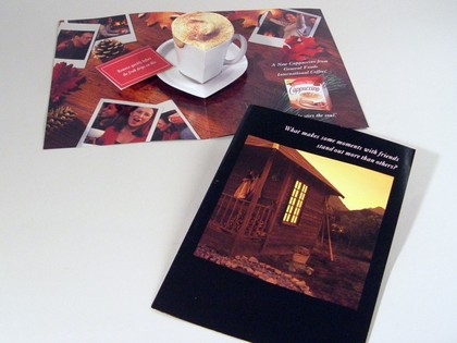 Kraft Pop-Up Cappuccino Magazine Insert Thumb Image