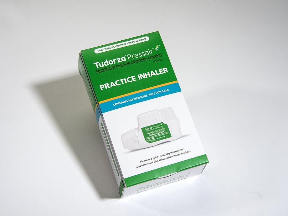 tudorza practice inhaler box