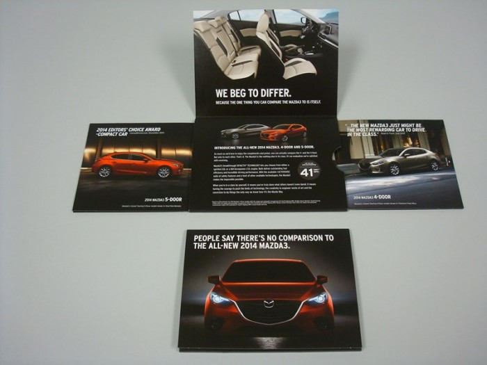 Structural Graphics' Extendo mailer customized for 2014 Mazda 3