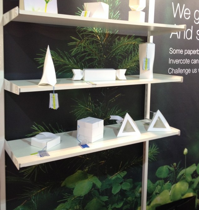 Structural Graphics' work was featured in the Invercote booth at Luxe Pack New York.
