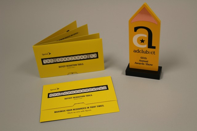 SG's Sprint Deficit Slider earned the another bronze award in the Ad Club of CT's Dimensional Mail category.