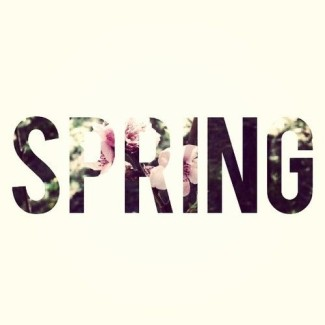 Spring typofont via whowhatwear.com.