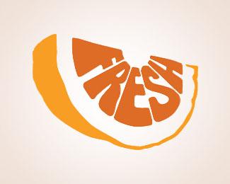 Fresh fruit logo via topdesignmag.com.