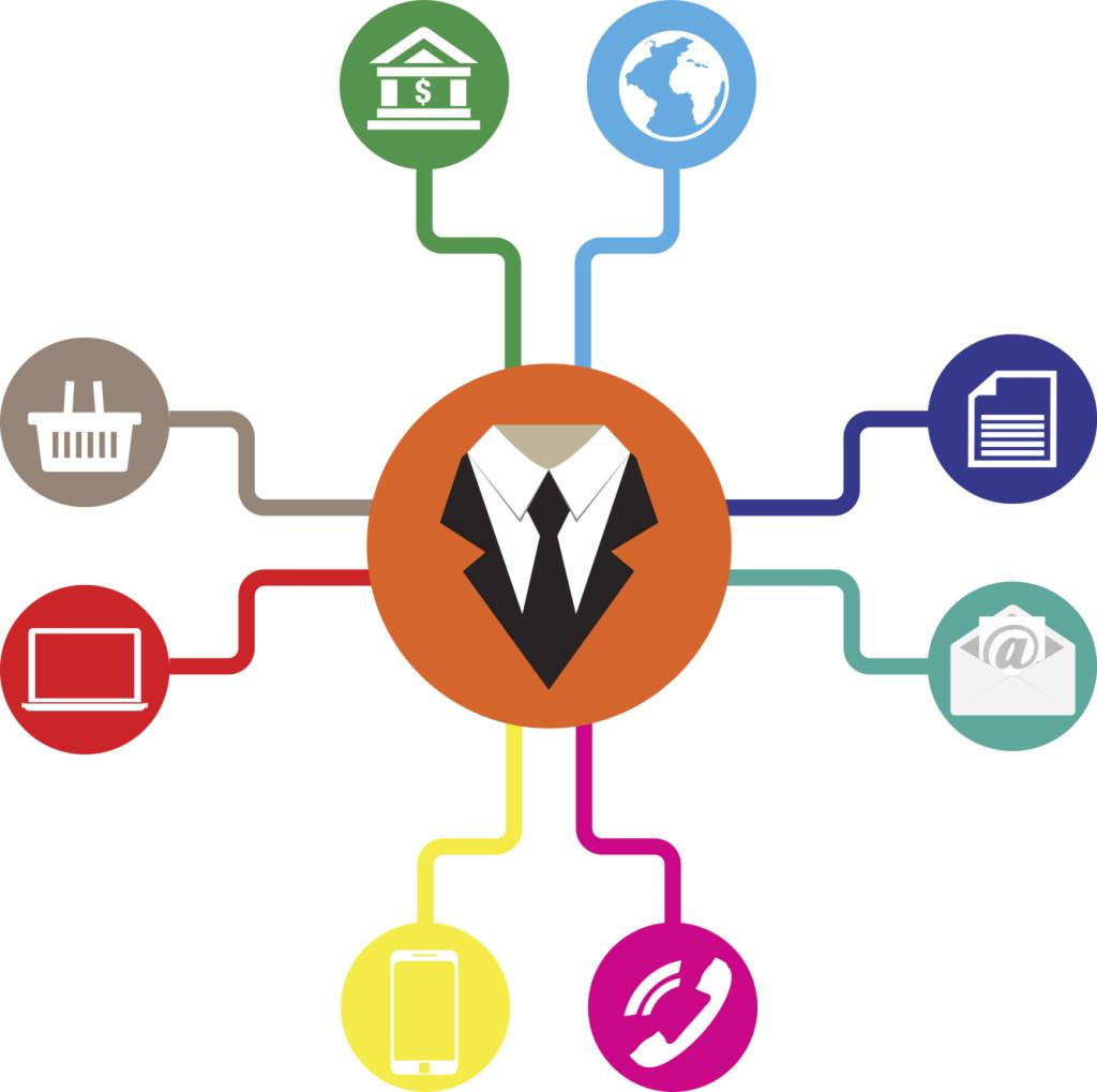 Business icons flat vector illustration Communication
