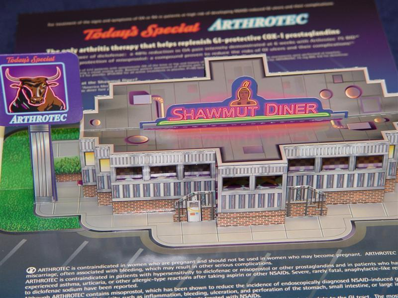 Pharmacia, Arthrotec. Fully Dimensional Restaurant.