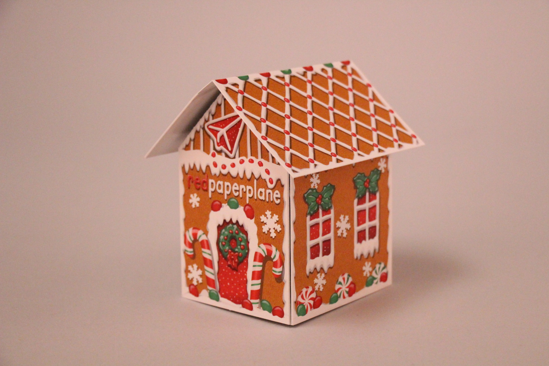 Red Paper Plane Pop-up House Format